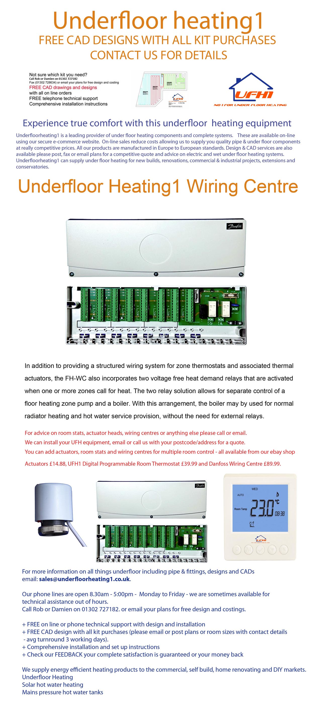 Danfoss underfloor heating wiring centre instructions